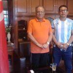 माओवादी केन्द्रका अध्यक्ष प्रचण्ड र जसपाका नेता भट्टराईसँग मनाङ्गेको भेट